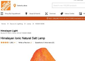Where to buy himalayan salt lamp online Home Depot