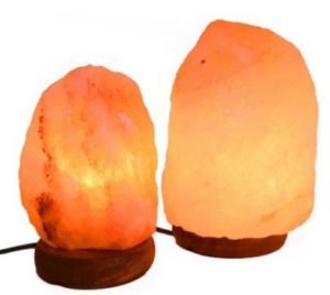 natural shaped Himalayan salt lamps