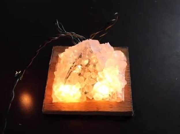 homemade salt lamp
