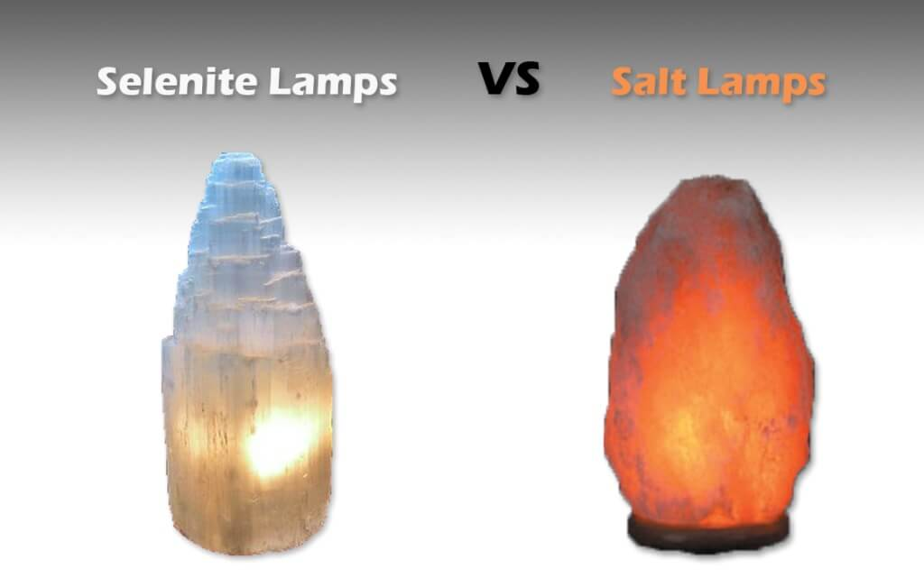 selenite tower lamp vs himalayan salt lamp