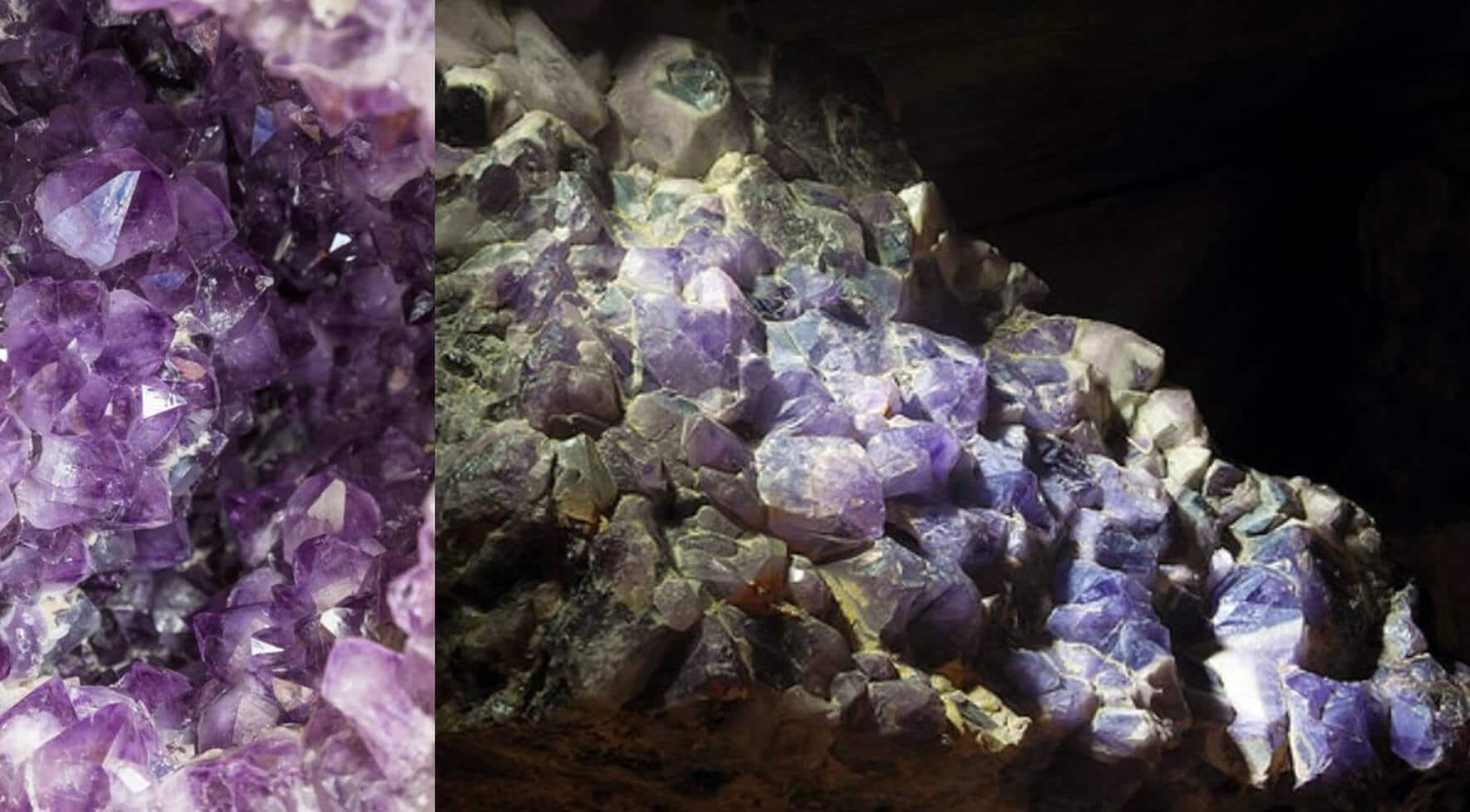 Amethyst crystal mine