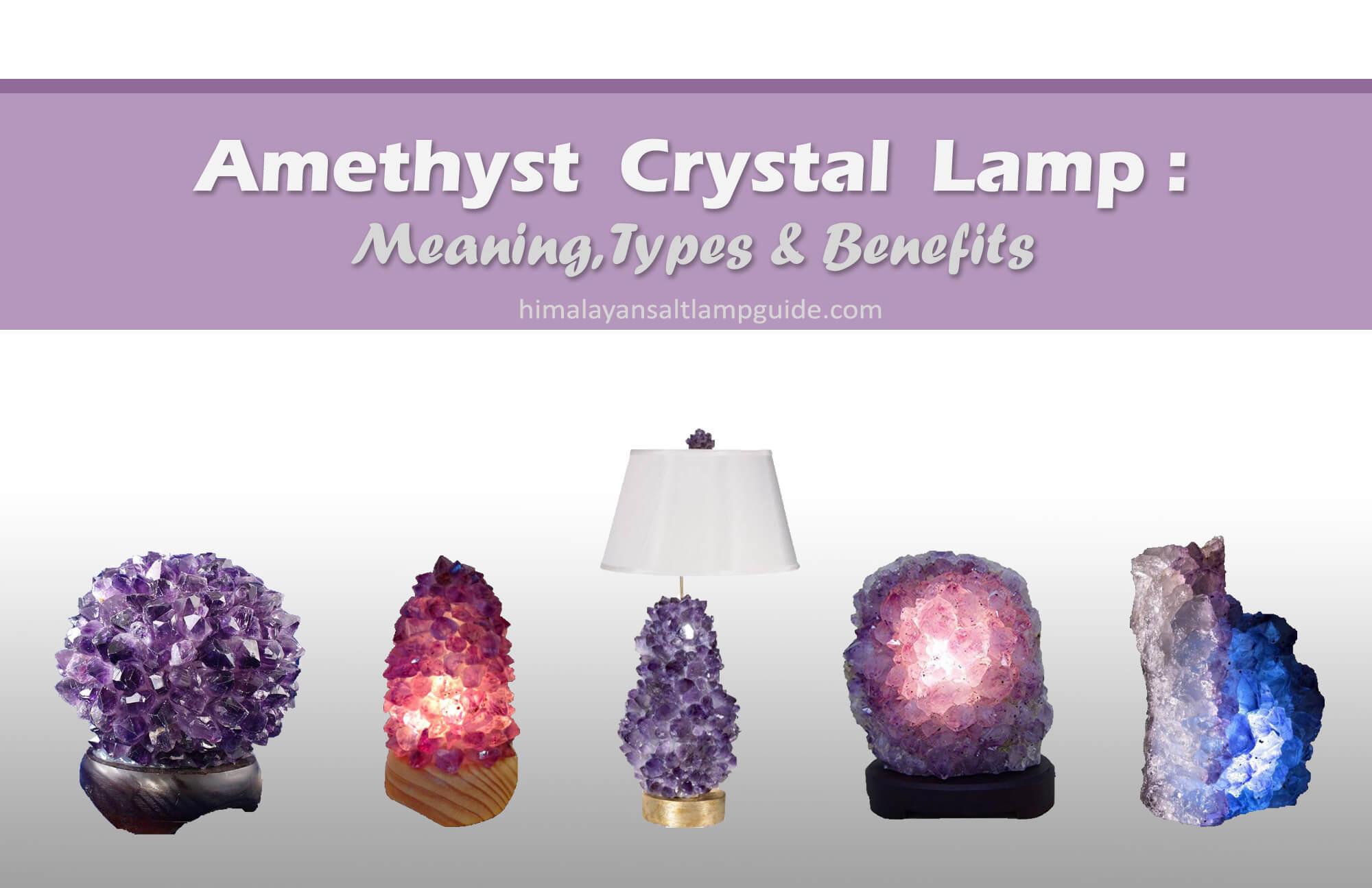 Benefits of Amethyst Lamp - Cluster Lamp