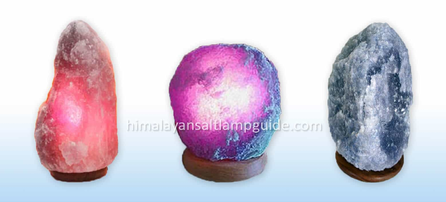 Persian blue purple salt lamp for sale