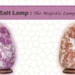 Purple Persian salt lamp benefits