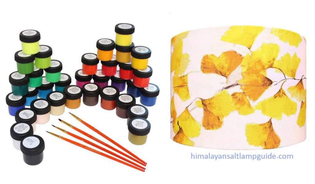 Acrylic paint (Hand-Painting) - types of paints you can use on your lampshade