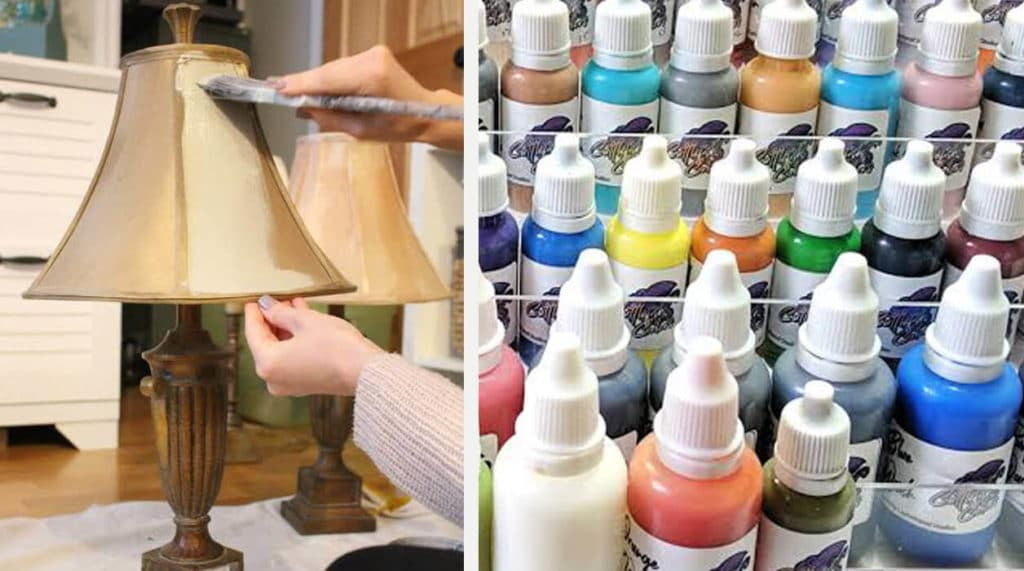 Hobby Paint and Faux Finishes - types of paints you can use on your lampshade