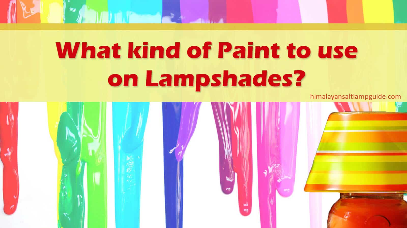 What Kind of Paint to use on Lampshades